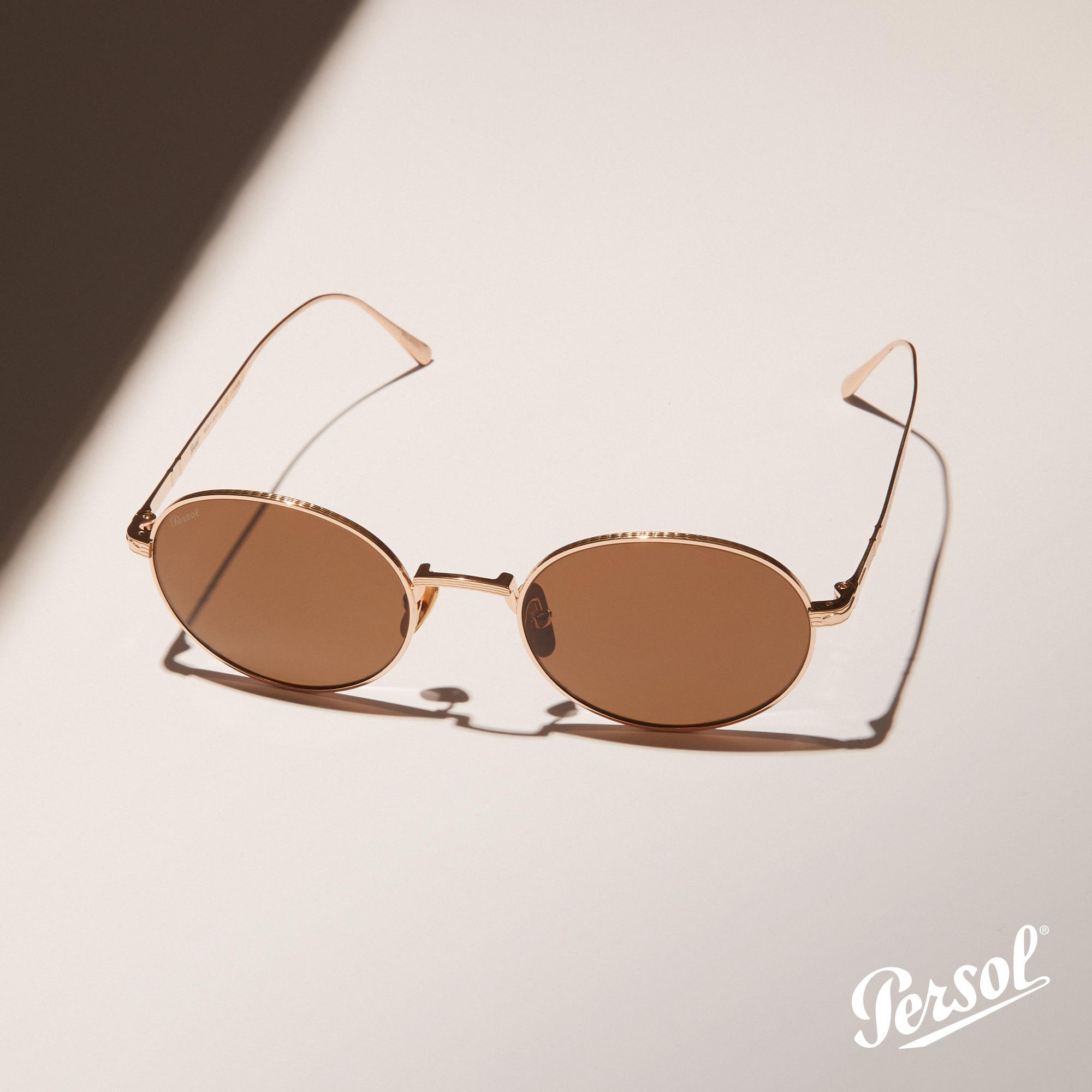 Persol -Óculo de Sol Gold Round - Pitosga Óptica