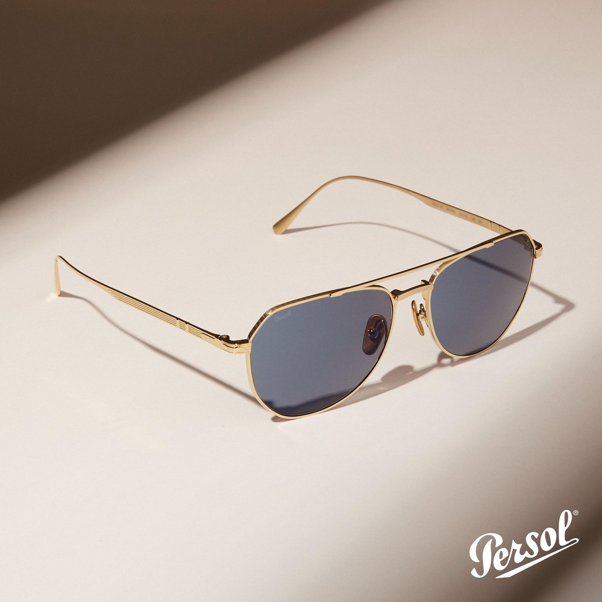 Persol -Óculo de Sol Gold - Pitosga Óptica