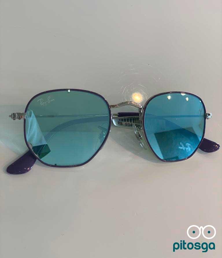 Ray-Ban Sol Azul espelhado - Modelo de Criança - Pitosga Ótica
